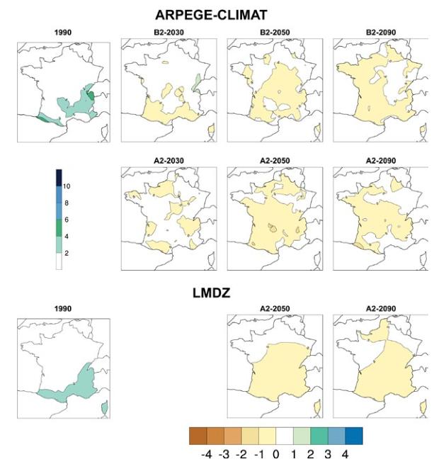 Évolution des précipitations extrêmes France